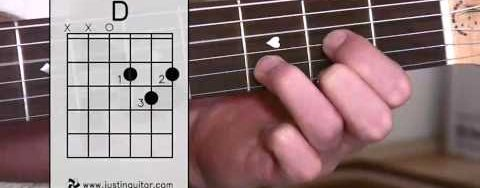 Super Easy First Guitar Lesson – Guitar Lessons For Beginners – Stage 1 – The D Chord