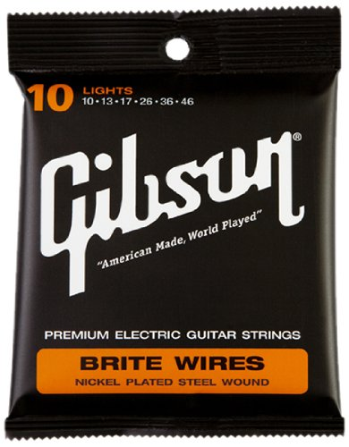 Gibson Brite Wires Electric Guitar Strings, Light 10-46