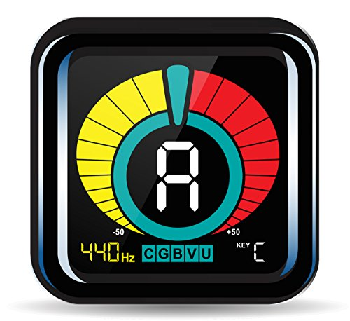 KLIQ UberTuner – Clip-On Tuner for All Instruments – with Guitar, Bass, Violin, Ukulele & Chromatic Tuning Modes
